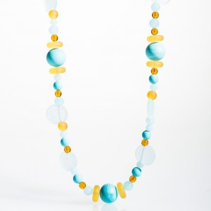 Cleo Necklace turquoise and yellow