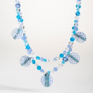 Flora Necklace blue b